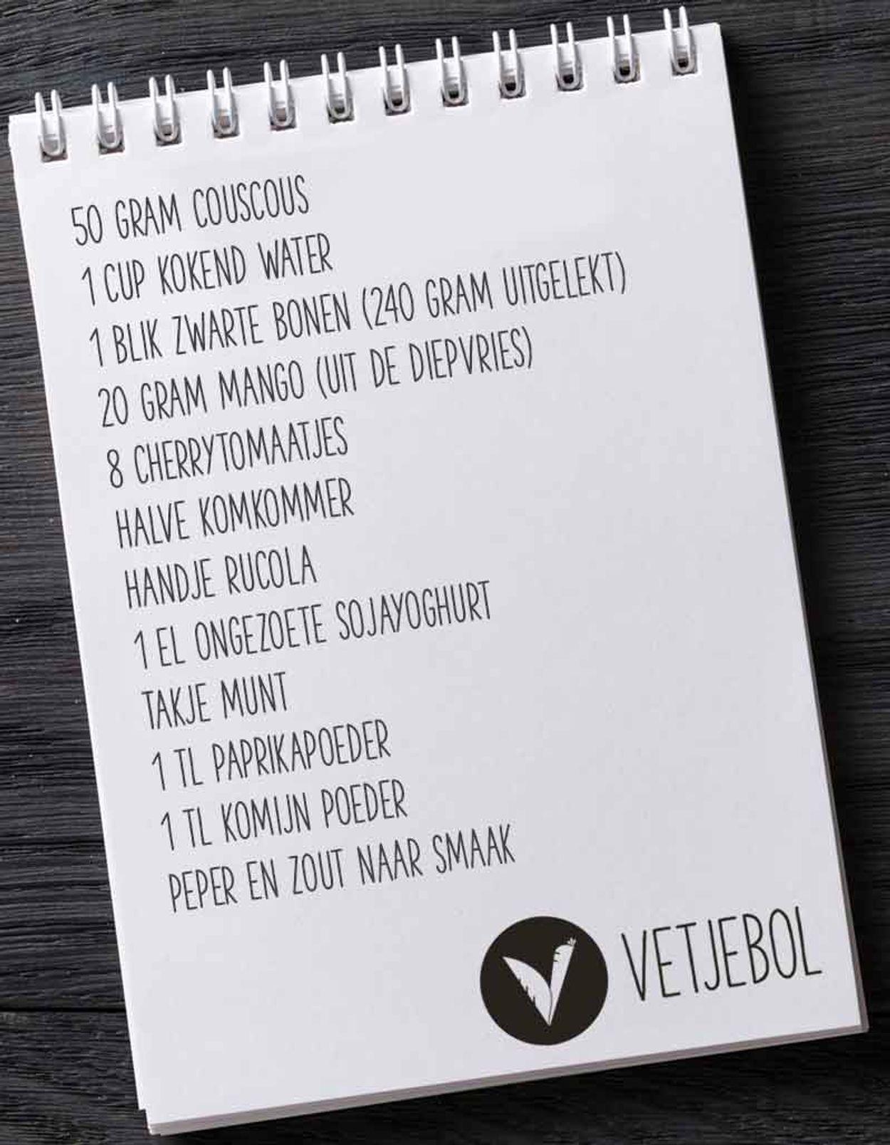 vetjebol boodschappenlijstje Frisse couscoussalade