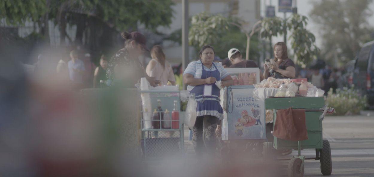 Straatverkopers El Salvador