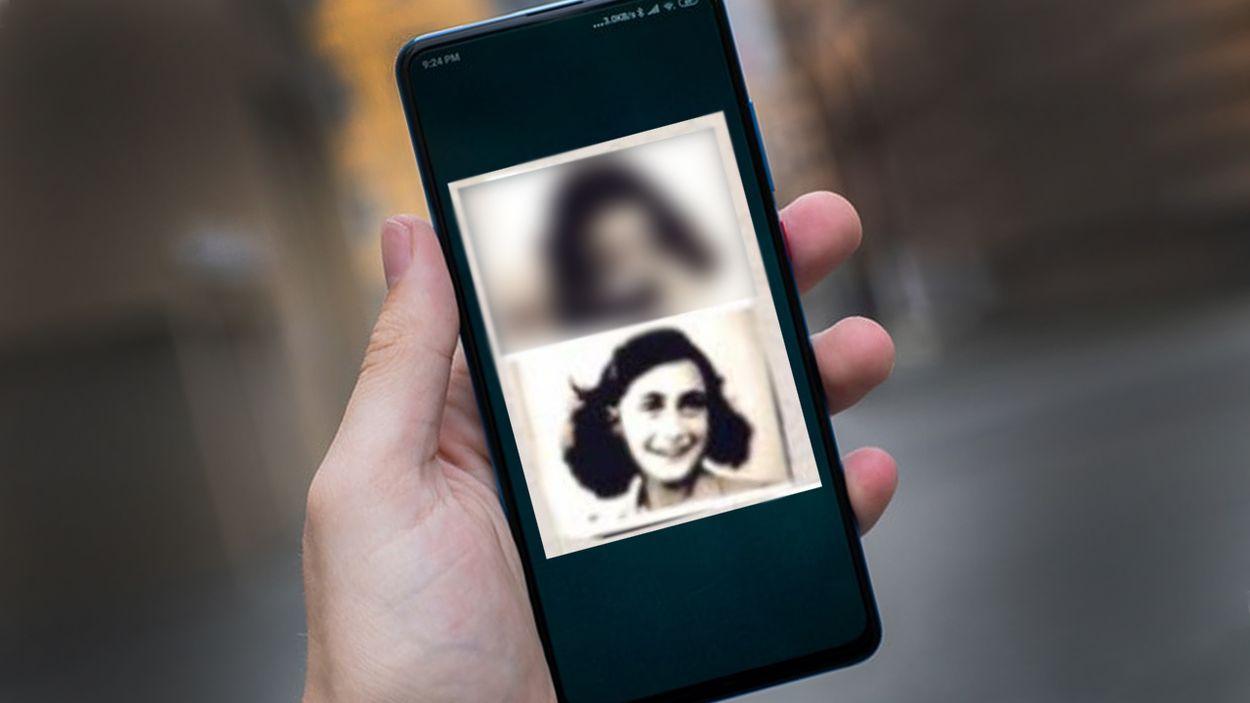 Afbeelding van Waarom delen jongeren een plaatje van een cokesnuivende Anne Frank?