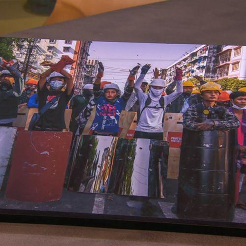 Afbeelding van De protesten in Myanmar. Hoe ziet dat er van dichtbij uit?